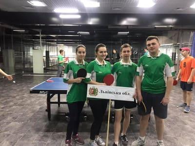 Чемпіонат України з настільного тенісу серед учнів ПТНЗ